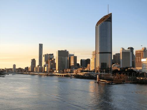 Brisbane skyline construction project
